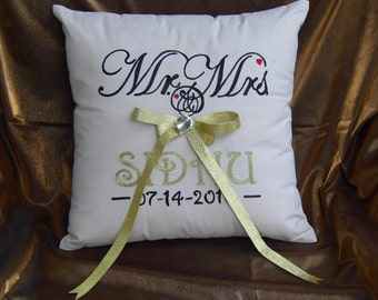 Mr and Mrs Pillow-Wedding Pillow Bride's and Groom's
