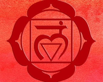 Chakra art Muladhara base  1st chakra meditation symbol