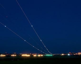 Plane Light Trail