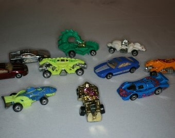 Vintage Animal and Race car Hot Wheels