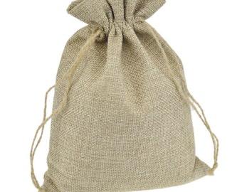 Rustic Wedding Jute Bags, Thank You Favor Bag, Drawstring Pouches,Storage, Gift, Packaging, Jute Bag, Jewelry Bag, Favor Bag, BAG-008,10pcs