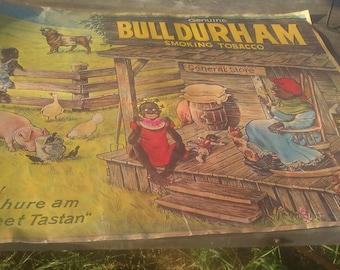 Bull Durham tobacco advertising poster