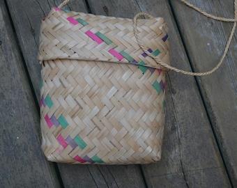 Woven Straw Purse