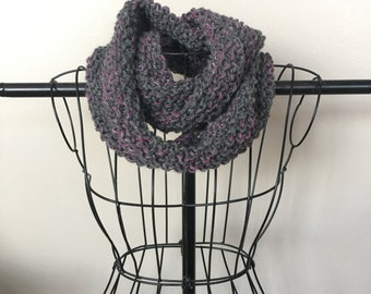Dark Gray Purple Multicolor Scarf