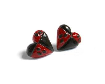 Harley Quinn Earrings Hearts
