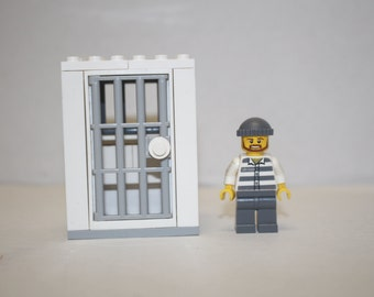 Custom LEGO* Jail Cell with Inmate/LEGO* Prison