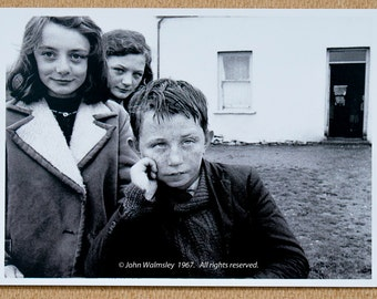 Three kids by their house, Dunquin, Ireland, 1967.  #71407
