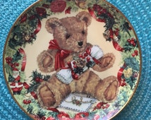 """Sarah Bengry """"Teddy's First Christmas"""" Limited Edition Collector Plate"""