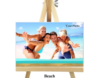 18cm x 12cm Personalized Canvas with Easel - Nature