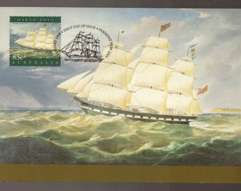 Marco Polo Sailing Ship Maxi Card from Australia