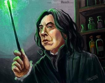 Harry Potter: Professor Severus Snape (Alan Rickman Portrait)