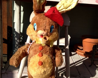 Vintage Rubber Faced Bunny Rabbit with Corn Cob PIPE