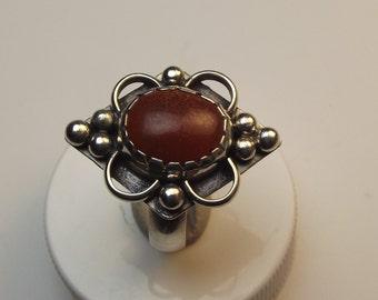 jasper, sterling silver ring