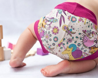 ORGANIC Baby/Toddler Shorts - Unicorns / 9-12 months