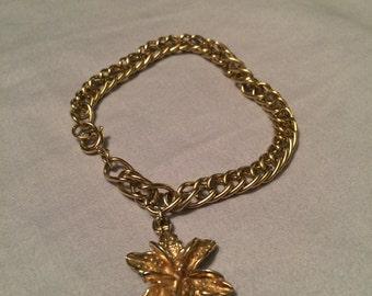 Lily charm bracelet