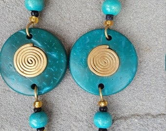 African Earings (cocunut shell)
