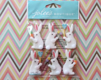 Easter bunny scrapbook stickers by Jolee's Boutique