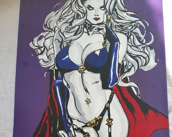 Lady death hand painted Nr. 06