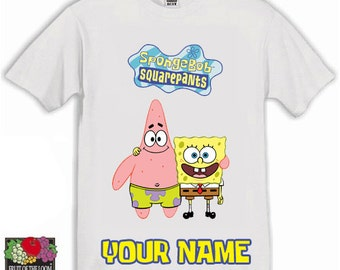 Spongebob Squarepants Kids Tshirt Ages 1-13 Available