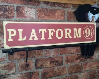 Platform 9 3/4 hand painted sign