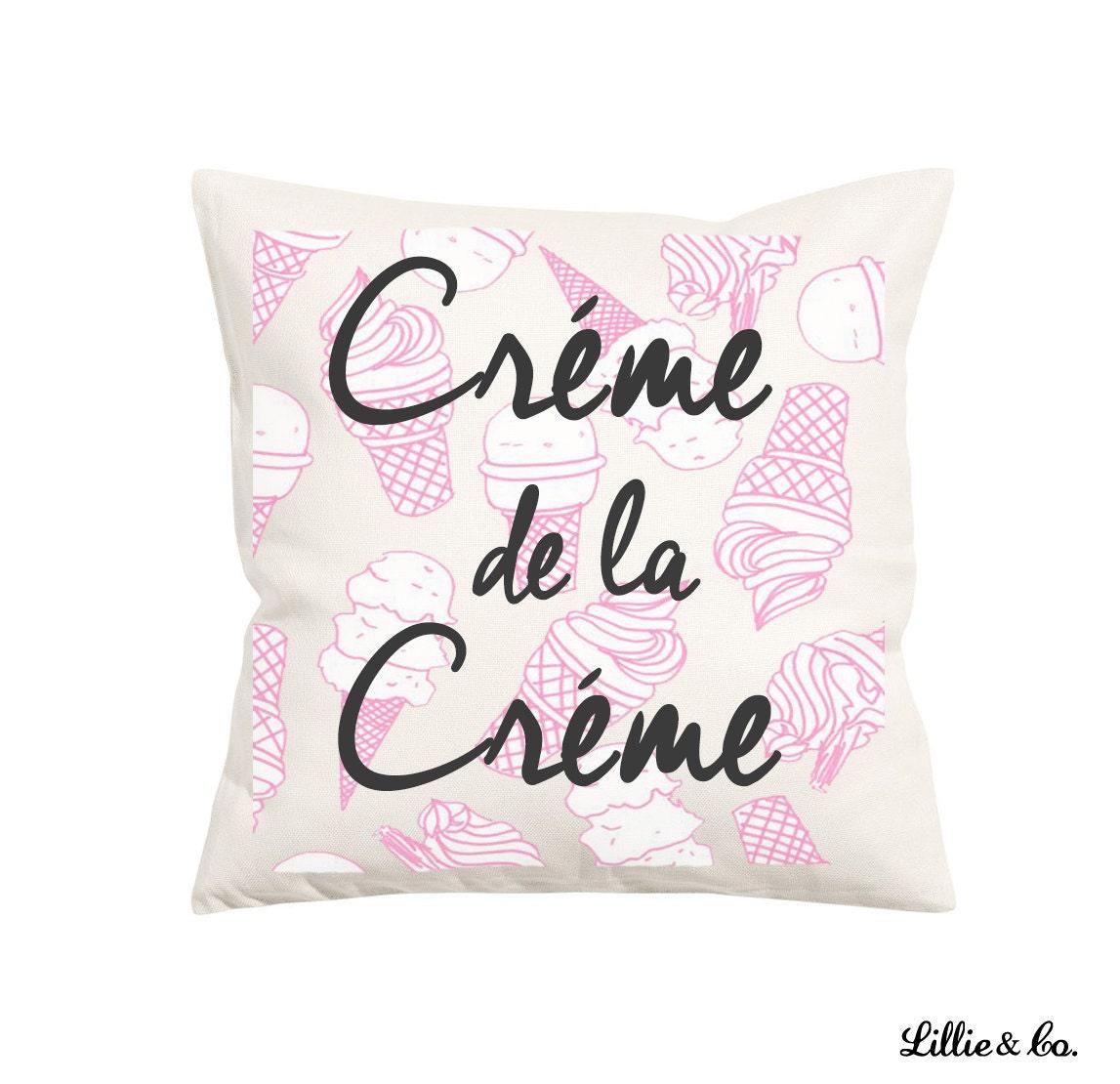 Ice Cream Throw Pillows : Creme de la Creme Ice Cream Throw Pillow by LillieandCoDesign