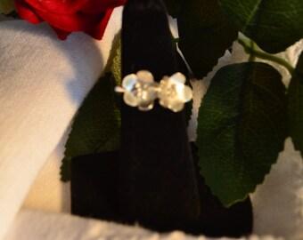 Unique argentium silver ring