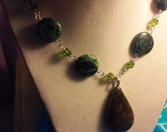 Labrodite and Agate necklace