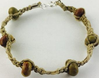 Stone hemp bracelet