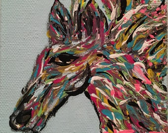 Horse Head Painting by CL Treat