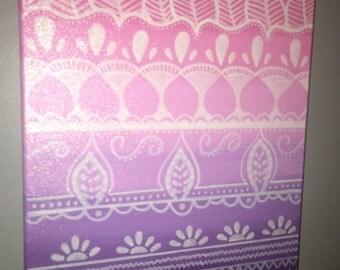 Pink and purple tribal print