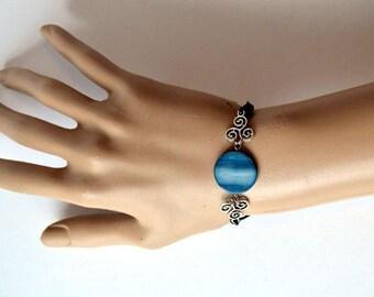 Blue Moon Triskele Bracelet, Teen Wolf Inspired, Hale Pack