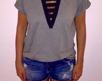 Ladder Lace Up Tshirt