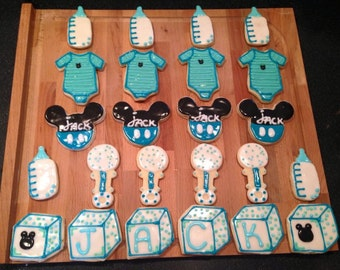 Newborn Cutout Cookies- 1 dozen. Mix or match
