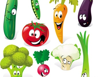 Cute Cartoon Vegetables Expression Vector