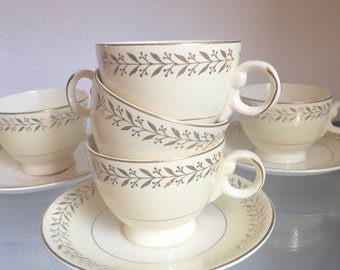 Taylor smith taylor set of 5 cups and saucers