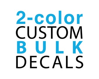 FACE NAILS HAIR Custom Vinyl Decals Any Color Two Inch - Custom vinyl decals bulk