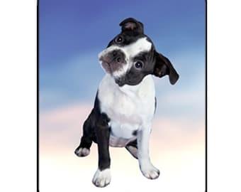Boston Terrier Puppy Dog Mousepad