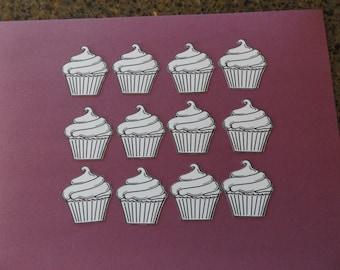 12 Stamped & Cut Cupcake  Images