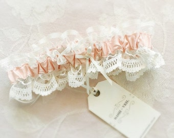Ophelia Blush Pink Wedding Garter - Wedding Accessories - Bridal Lingerie