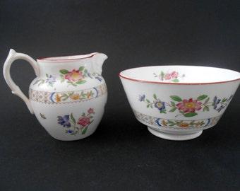 SALE 20% OFF Copeland Spode Milk Jug And Sugar Bowl, Floral Design, C.1910-1920