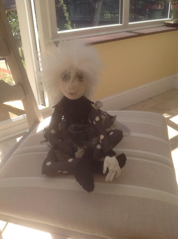 Cammi, a OOAK handmade, fabric fairy doll