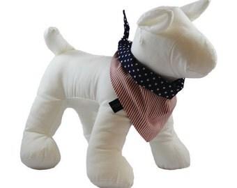 Patriotic Handmade Reversible Dog Bandanas