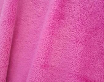 Minky Fabric By The Yard - Fuchsia (W1)