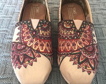 Custom, Hand Drawn Color Mandala TOMS