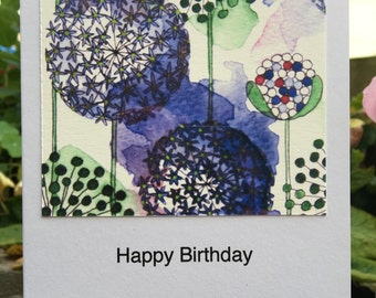 Alliums Greetings Card