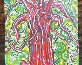 "Nine Branches - 18""x24"" Acrylic on Canvas"