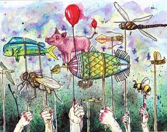 Pigs on the Wing, Print
