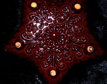 Vintage German Ceramic Star  Baking Form~German Rustic~Bavarian Country Kitchen~German Souvenir~Star~Bowl~