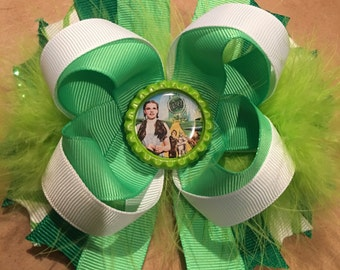 5inch Wizard of Oz Hair Bow with diamonds and boa
