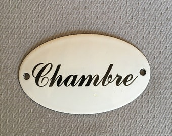 Metal Shabby Decor Home Vintage Sign Tin Plaque enameled french round bedroom